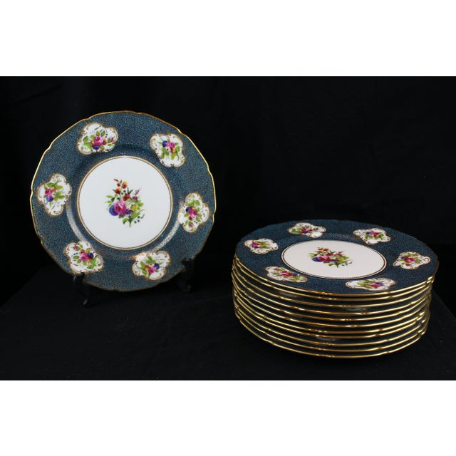 Blue Royal Doulton Plates - Service for 12 For Sale - Image 8 of 8
