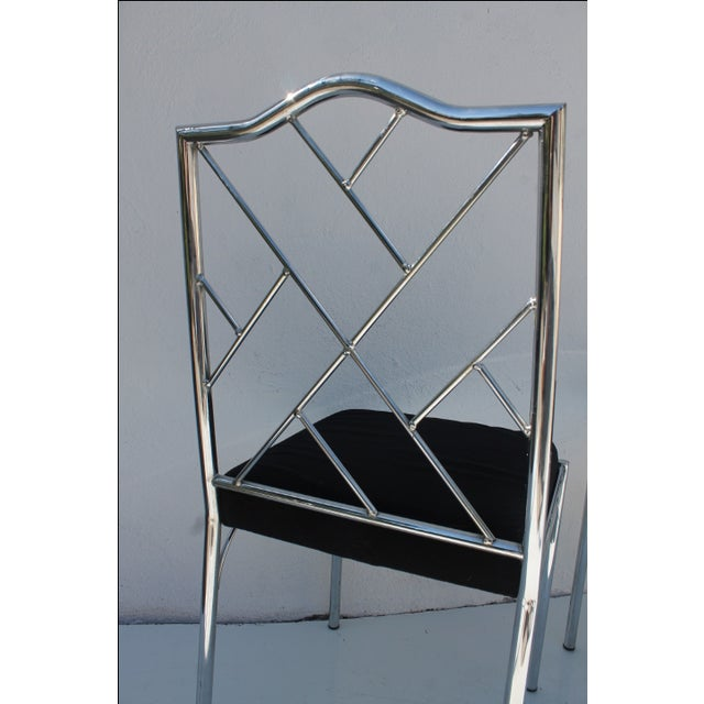 Vintage Chrome Dining Chairs - Pair - Image 4 of 7