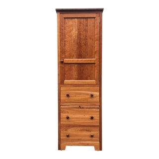 Solid Cherry Armoire Dresser For Sale