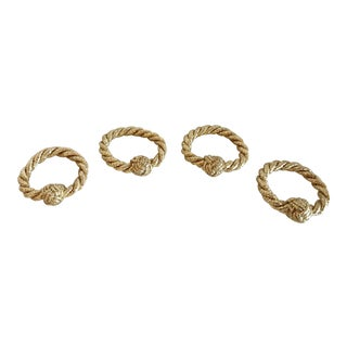 Gold Rope Napkin Rings - Set of 4