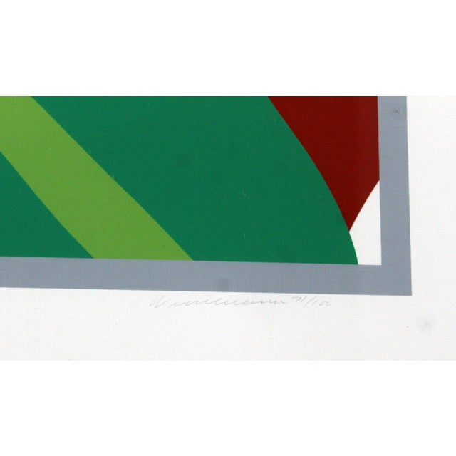 1980s 1980s Contemporary Modern Framed Signed Lithograph Monica Nude Tulips Wesselmann For Sale - Image 5 of 7