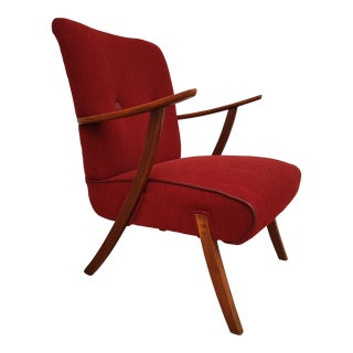 1960s Vinage Danish Stained Beech Chair For Sale
