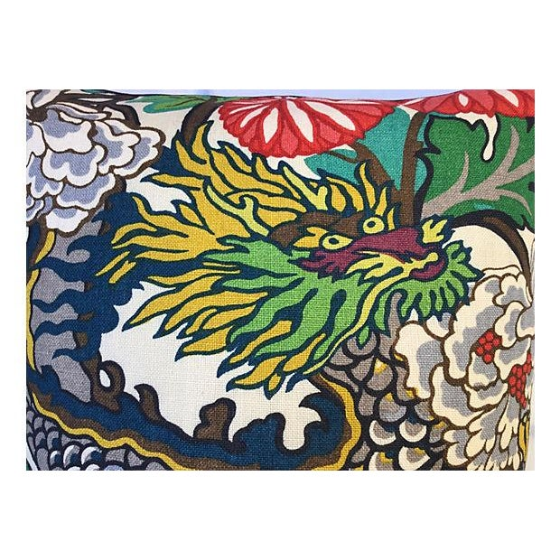 Schumacher Chiang Mai Dragon Pillow - Image 2 of 5