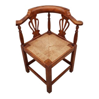 17th Century Georgian Corner Arm Chair For Sale