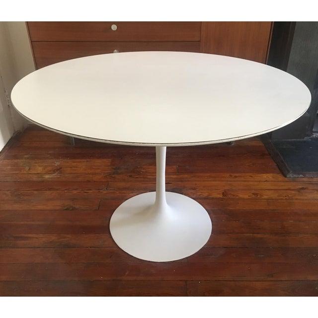 1960's Mid Century Modern Eero Saarinen for Knoll Associates Tulip Dining Table For Sale - Image 9 of 9