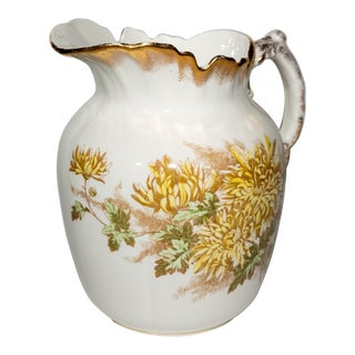 John Maddock & Sons Royal Vitreous Porcelain Pitcher For Sale