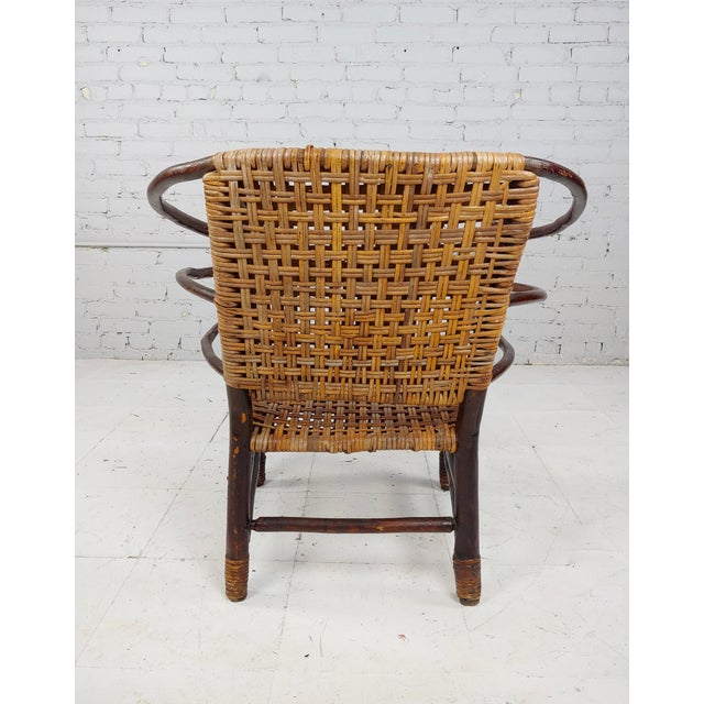 Antique 1920s Bentwood Settee and Chairs -Salon - Set of 3 For Sale - Image 11 of 12