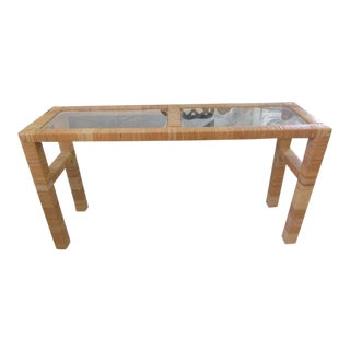 1970s Island Style Wrapped Console For Sale