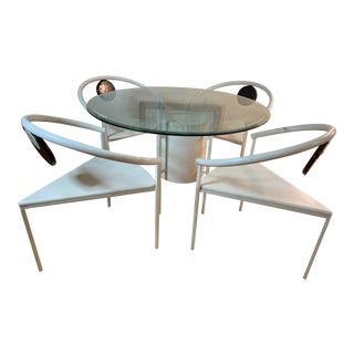 1980s Memphis Dining Set by Michele De Lucchi, Art Deco - Set of 6 (Collectors Item) For Sale