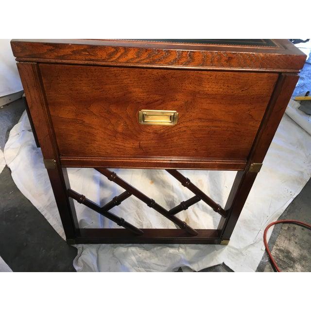 Sligh Furniture Campaign Style Desk For Sale In Atlanta - Image 6 of 9