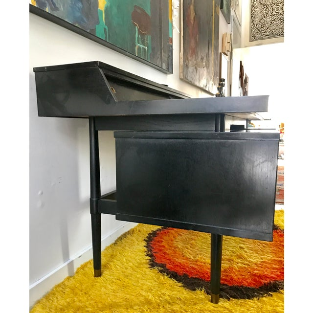 Drexel Mid Century Biscayne Floating Desk Edward Wormley for Drexel For Sale - Image 4 of 11