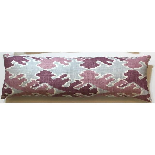 Purple & Gray Linen Ikat Pillow - Image 2 of 7