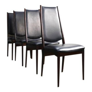 Rosewood Danish Modern Dining Chairs - Set of 4 For Sale