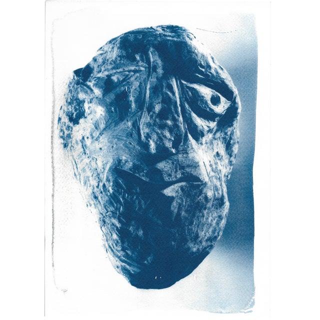 Cyanotype Print - Rock Face Sculpture - Image 1 of 5