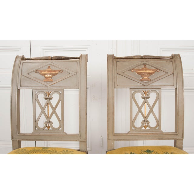 Metal French 19th Century Neoclassical Style Side Chairs - a Pair For Sale - Image 7 of 11