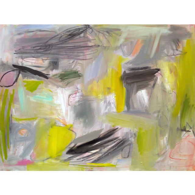 """Trixie Pitts """"Happy Valley"""" Abstract Painting - Image 1 of 4"""