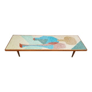 Mosaic Tile Coffee Table Mid Century Modern For Sale
