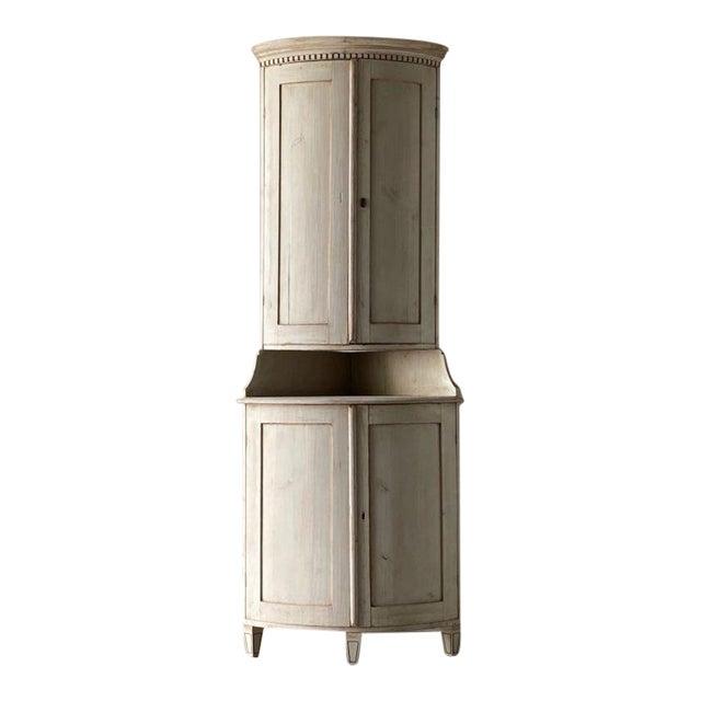 Antique Gustavian Corner Cabinet For Sale