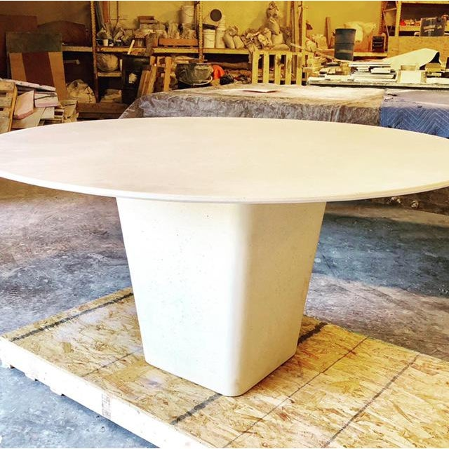 Contemporary Contemporary Henderson Concrete Dining Table For Sale - Image 3 of 5