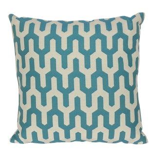 """Sinbad"" Cerulean Performance 18"" Decorative Pillow For Sale"