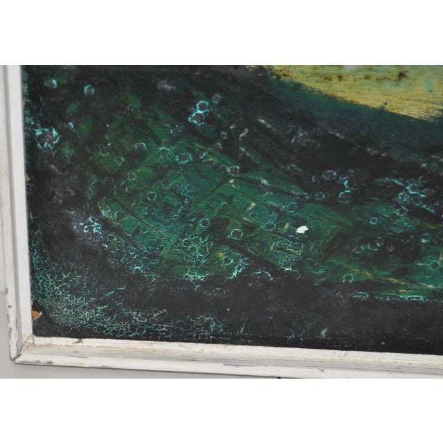 Acrylic Paint Mid-Century Modern Abstract Painting by Rita Robinson C.1961 For Sale - Image 7 of 11