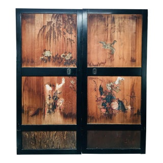 Early 20th Century Antique Japanese Sliding Doors - a Pair For Sale