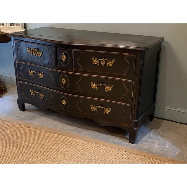 Black 19th Century French Louis XV Commode For Sale - Image 8 of 10