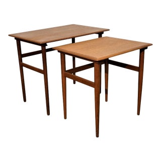 Original Danish Mid Century Nesting Tables - Tohundredeni For Sale