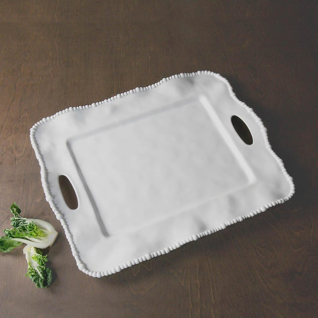 Plastic Beatriz Ball Vida Alegria Serving Tray from Kenneth Ludwig Chicago For Sale - Image 7 of 7