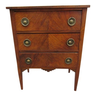 Antique Dutch Mahogany Chest With 3 Drawers For Sale