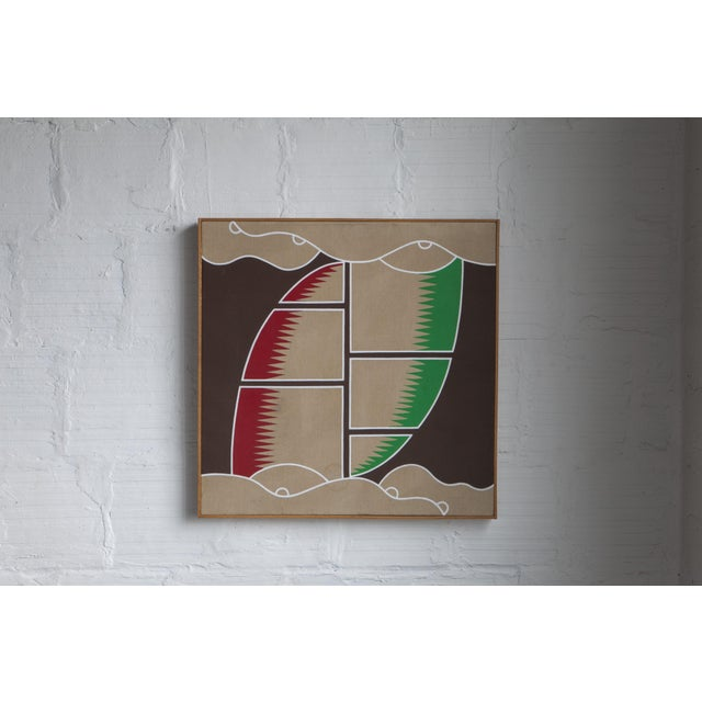 """Mid-Century Modern 1970's Vintage """"Sail Desert Storm"""" Painting For Sale - Image 3 of 3"""