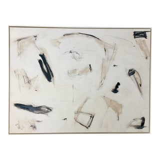 Abstract Black and White Painting by Kimberly Moore For Sale