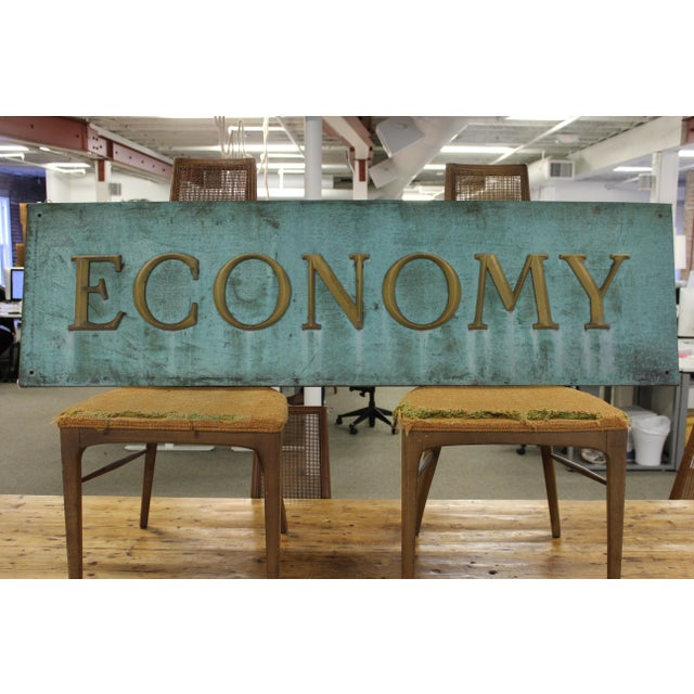 Early 20th Century Antique Economy Sign For Sale - Image 9 of 9
