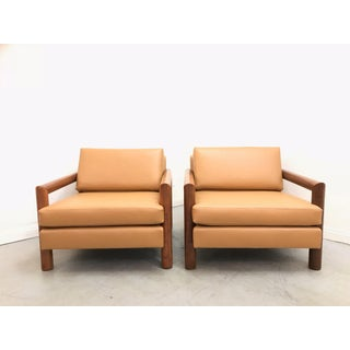 1960s Mid Century Modern Milo Baughman Style Club Chairs - a Pair Preview