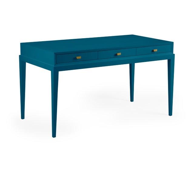 Traditional Casa Cosima Hayes Desk, Blue Danube For Sale - Image 3 of 3
