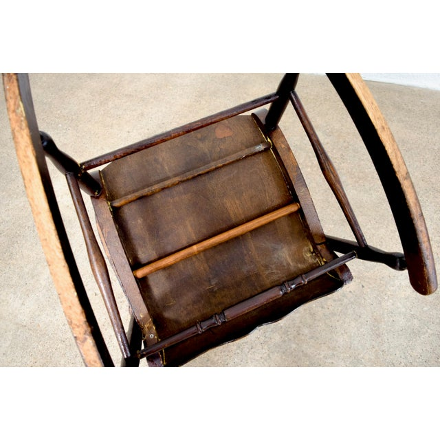 Antique Victorian Wooden Rocking Chair For Sale - Image 9 of 11 - Antique Victorian Wooden Rocking Chair Chairish