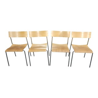 1990s Vintage Johannes Foersom and Peter Hiort-Lorenzen Lammhults Campus Chairs- Set of 4 For Sale