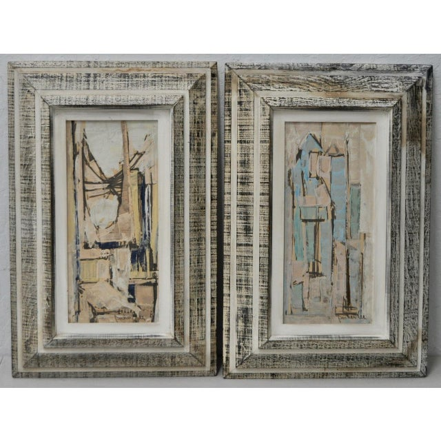 Matching Pair of Parker Lee Mid Century Modern Abstract Gouache C.1950s For Sale In San Francisco - Image 6 of 6