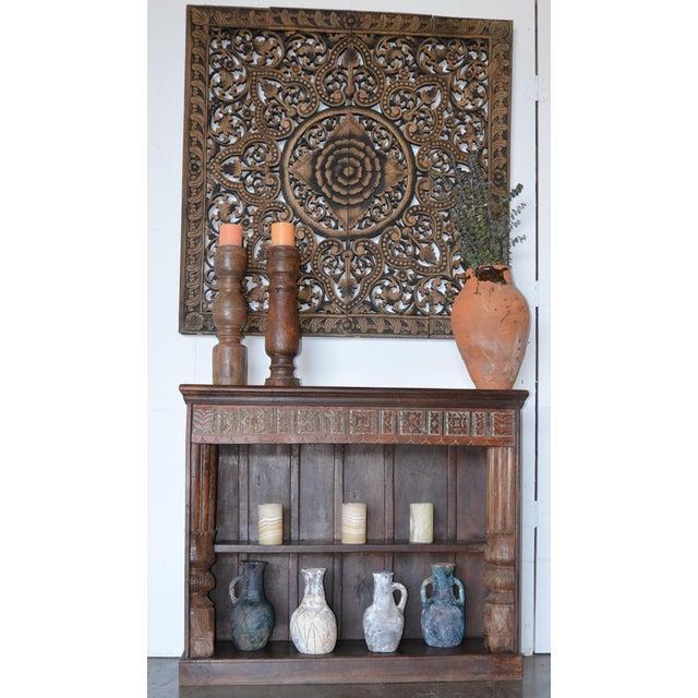 Vintage Indian Hand Carved Bookshelf - Image 9 of 10