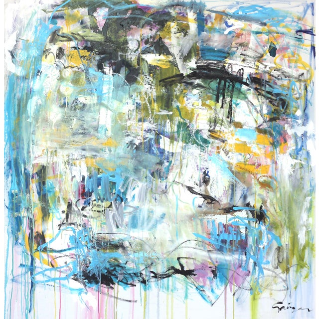 """""""Push Past the Fear"""" Original Abstract Artwork by Lesley Grainger For Sale - Image 9 of 9"""