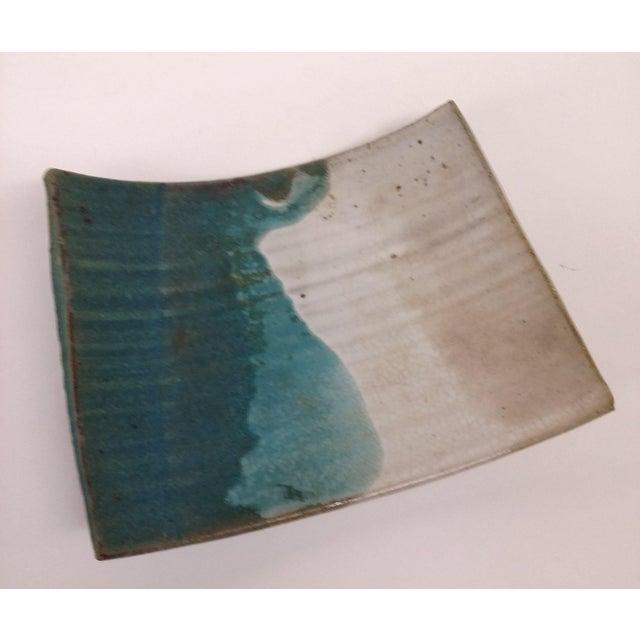 Mid-Century Artisan Ceramic Sushi Tray For Sale - Image 10 of 10