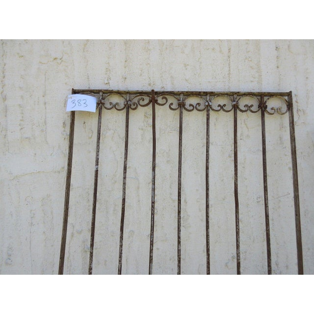 Antique Victorian Iron Gate For Sale - Image 7 of 7
