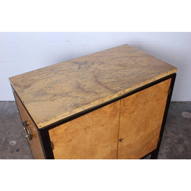 Marble Rare Olive Burl Cabinet by Edward Wormley for Dunbar For Sale - Image 7 of 10