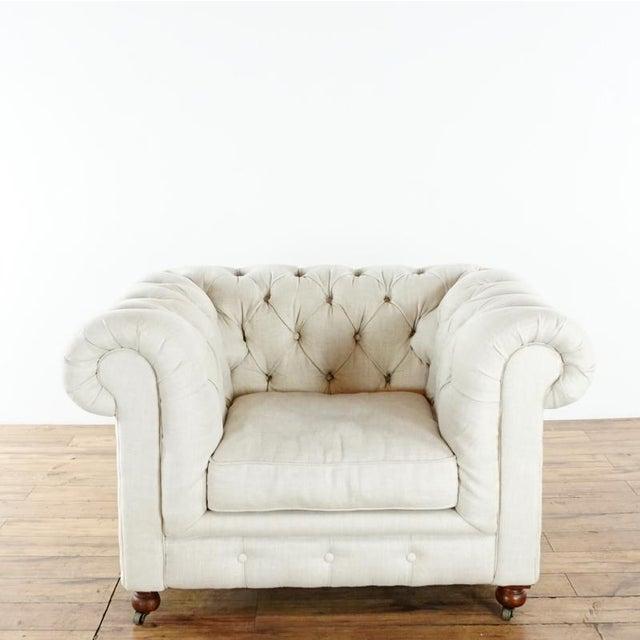 Textile Restoration Hardware Kensington Upholstered Armchair For Sale - Image 7 of 7