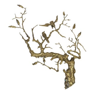 Brutalist Jere Style Brass Sculptural Wall Hanging For Sale