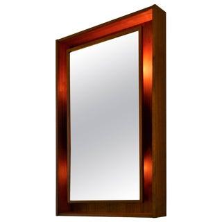 Danish Rectangular Teak Mirror by Pedersen & Hansen For Sale