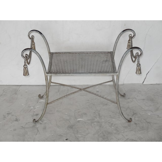 Regency Style Metal Bench - Image 3 of 7
