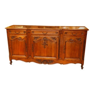 Antique French Oak Buffet For Sale