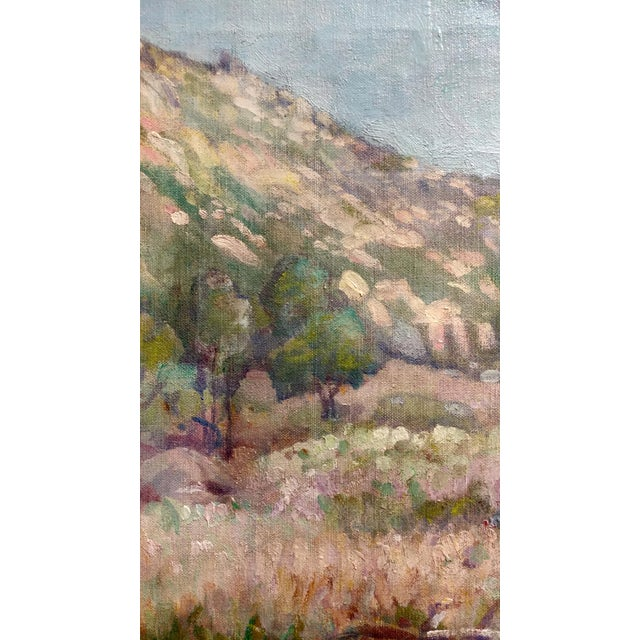 1920s Charles Fries -Oaks & Hills Near Mussey Grade- California Oil Painting For Sale - Image 5 of 10
