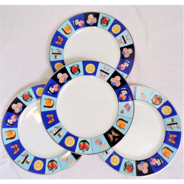 Gucci 1990's Gucci Guccissimo China Salad Plate Set - Set of Four For Sale - Image 4 of 5